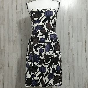 NWOT Banana Republic Strapless Floral Dress